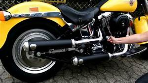 Harley Davidson Auspuff : harley davidson fat boy penzl auspuff verstellbar ~ Jslefanu.com Haus und Dekorationen