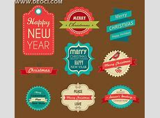 9 beautifully Vintage vector design template EPS