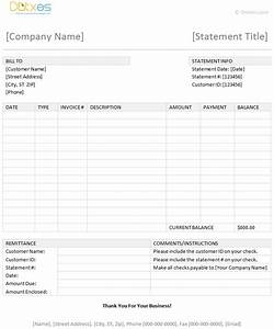 Billing statement template dotxes for Invoice statement template word