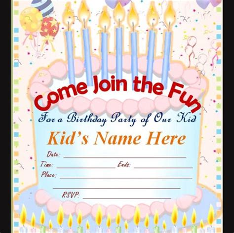 birthday invitation card template pdf free 63 printable birthday invitation templates in pdf