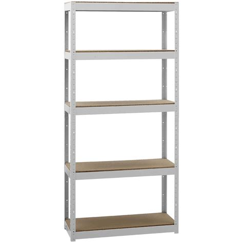 White Metal Storage Shelves by Cobalt 5 Shelf Metal Shelving Unit White Ebay