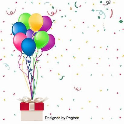 Birthday Happy Clipart Colorful Ribbon Transparent Fantasy