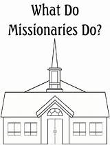 Coloring Church Pages Missionaries Robbygurl Creations sketch template