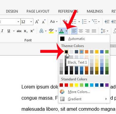 how to change font color how to change the font color for an entire document in
