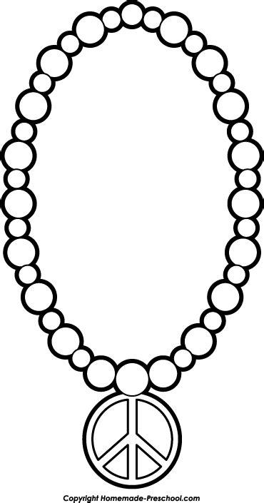 pendant string bracelet preschool clip black and white clipart panda free