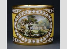 Lot 547 A Lynton Porcelain Coffee Can, Painted By Stefan