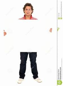 Man Holding Blank Poster Royalty Free Stock Images - Image ...