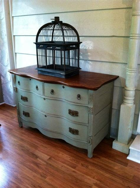 antique buffet dresser  sideboard distressed wood