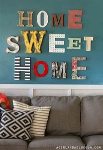 Home Sweat Home : home sweet home sign a girl and a glue gun ~ Markanthonyermac.com Haus und Dekorationen