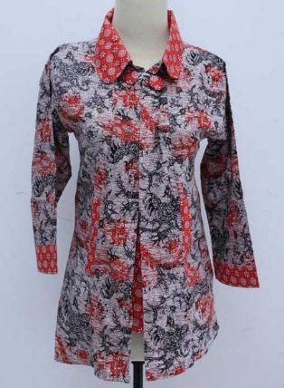 model baju batik kerja wanita terbaru modis elegan