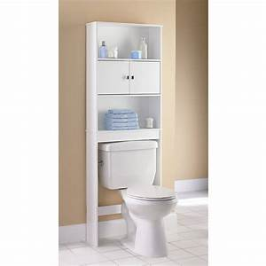 mainstays 3 shelf bathroom space saver satin nickel With space savers for bathroom