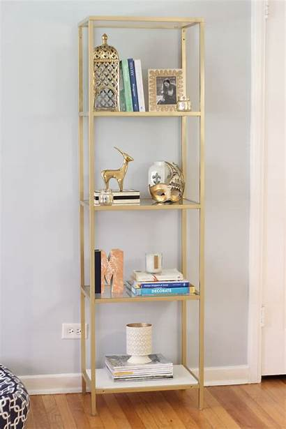 Gold Bookshelf Books Diy Plain