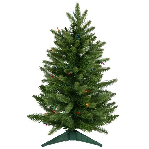 2 foot frasier fir christmas tree multicolor all lit