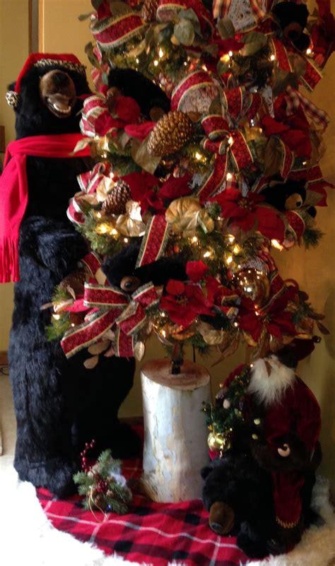 black bear tree black bear christmas christmas