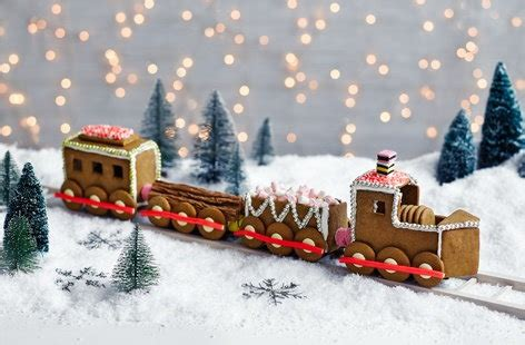 gingerbread train tesco real food