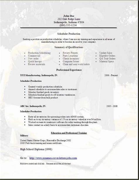 scheduler resume occupationalexamplessamples  edit