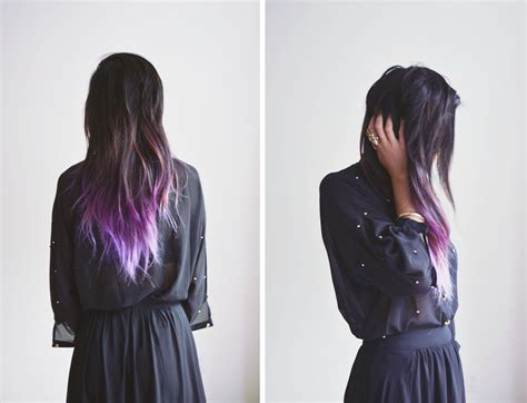 Purple Dip Dye Dip Dye Colorful Hair Dye We Know