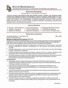 executive summary resume example benjaminimagescom With how to write an executive resume