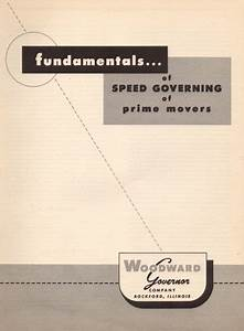 Elmer Woodward U0026 39 S Fundamentals Of Speed Governing Manual