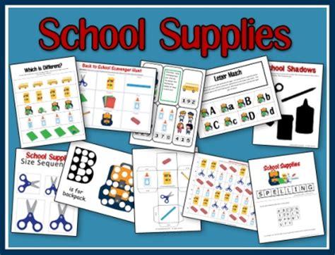 school supplies preschool pack a teaching 491   school supplies unit