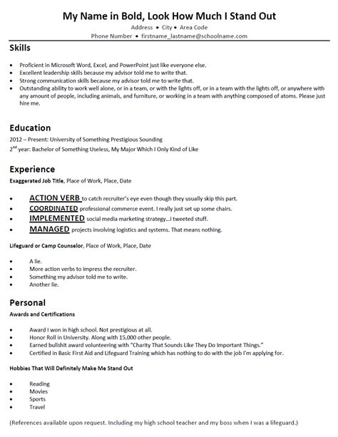 What To Include In A College Freshman Resume by Student Resume Doortodoorcomedy