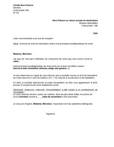 lettre de r 233 tractation par l acqu 233 reur suite 224 un compromis de vente mod 232 le de lettre gratuit
