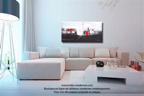 peinture pour mur de chambre tableau panoramique noir blanc design grand format décoratif pièce unique abordable