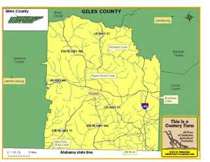 Giles County Tennessee Map