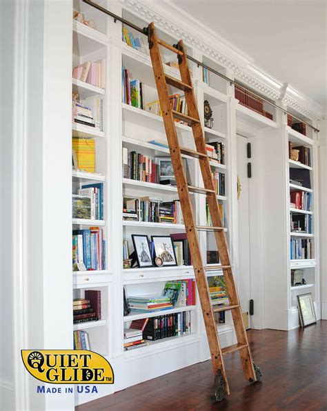 9 Foot Bookshelves by Glide Rolling Hook Library Ladder Kit With A 9 Ft