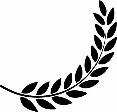 Svg Laurel Royalty Wreath Clipart Icon Leaf