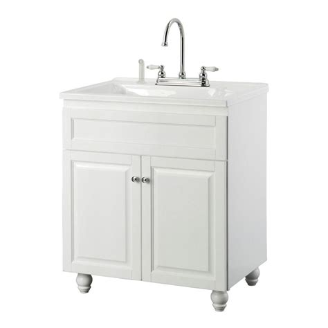 home depot laundry sink foremost bramlea 30 in laundry vanity in white and