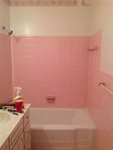 How do i remove the adhesive from 195039s pink wall tiles for How to do bathroom tile