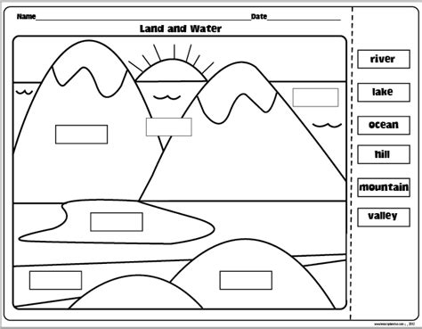 landform worksheets landforms and bodies of water freebie the lesson plan