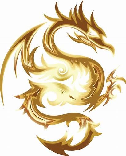 Dragon Tribal Clipart Goldon Svg