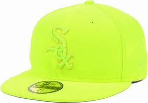New Era Chicago White Sox Pop Tonal 59Fifty Cap in Yellow