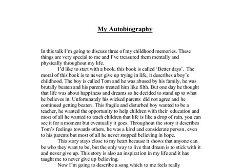 Examples Of Autobiography Essay An Essay On School Free Examples Of