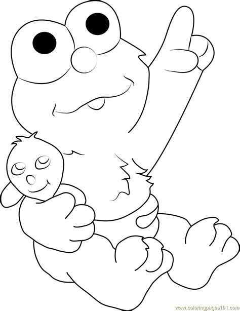 baby elmo coloring page  sesame street coloring