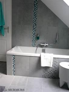 les projets de latelier une salle de bain sous combles With porte d entrée pvc avec carrelage salle de bain mosaique bleu