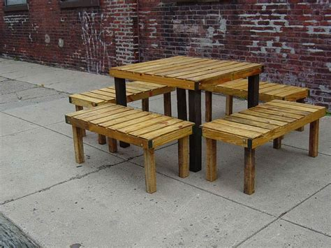 Pallet Patio Furniture Plans by Build Your Own Wooden Patio Table New Generation Woodworking