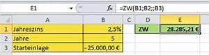 Excel Zinssatz Berechnen : excel zukunftswert und barwert berechnen pcs campus ~ Themetempest.com Abrechnung