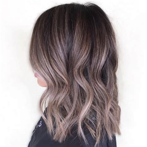 medium ash brown highlights hairstyles medium hair