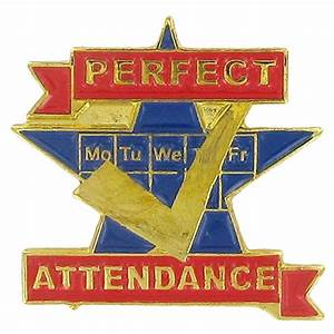 Perfect Attendance Pin - BR633 - Brooches and Lapel Pins ...