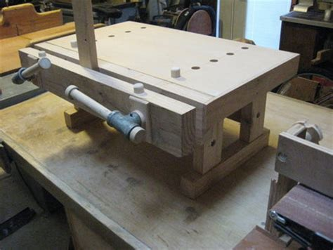 benchtop bench moxon vise  tinnocker  lumberjockscom woodworking community