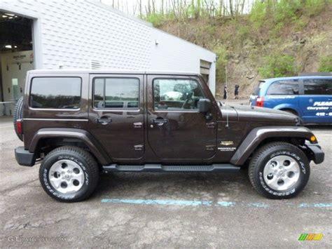 dark brown jeep rugged brown pearl 2013 jeep wrangler unlimited sahara 4x4