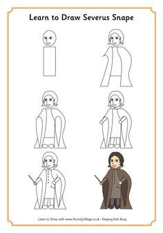 How To Draw Harry Potter Cute Easy Chibi Kawaii Simple Step By Step