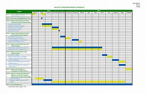 6 construction schedule template excel procedure for Project schedule template xls