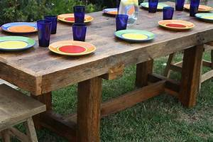 Your custom made rustic reclaimed barn wood farmhouse dining for Barnwood outdoor table