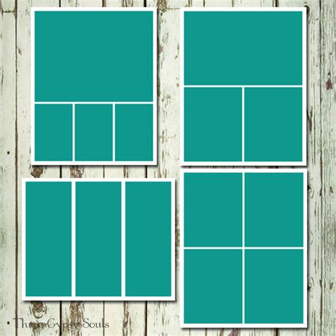 4 Picture Collage Template by 8x10 Storyboard Collage Templates Layered Psd Of 4