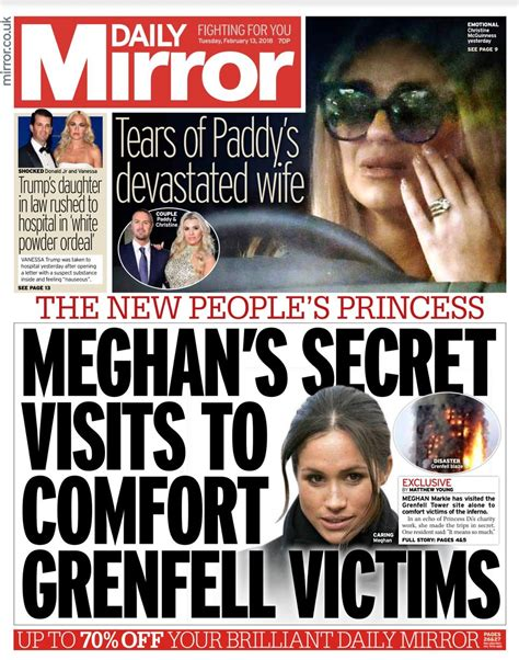 Daily Mirror front pages 2018 - #tomorrowspaperstoday ...