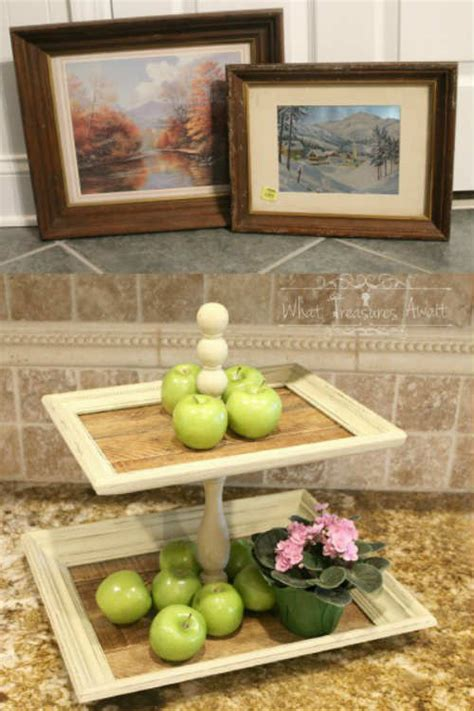 From Thrift Store Frames To Tiered Trays Diy Iseeidoimake
